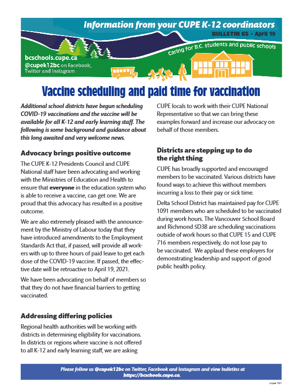thumbnail of Bulletin-65-Vaccination-Update